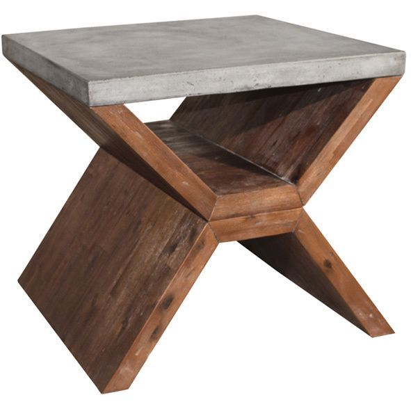 Add the Vixen end table to your home collection to give your home decor a modern look. Made with elegant Acacia wood this end table will accompany your home design nicely.