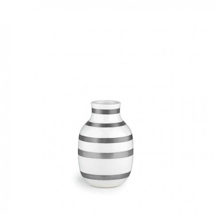 Kähler Omaggio Vase Sølv H:12,5cm