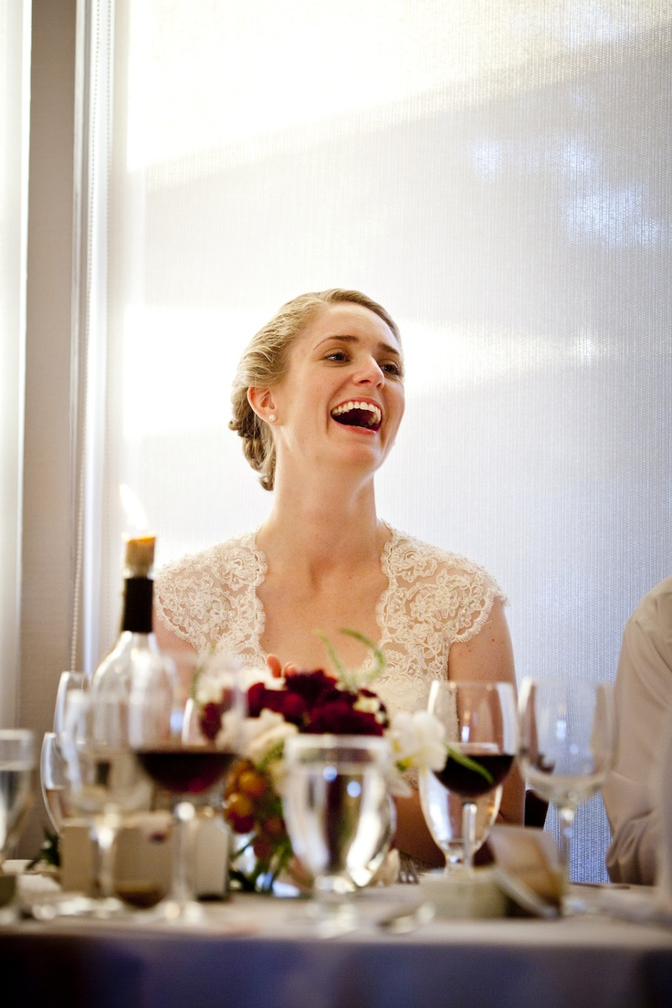 The Bride Enjoying Her Fathers Toasts After Wedding Dinner At Depot Hotel Restaurant