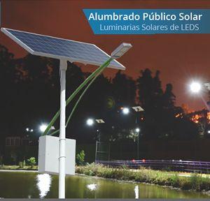 Luminarias solares led para alumbrado público. Puedes consultar nuestro catálogo de luminarias solares.