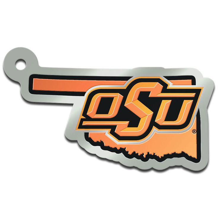 Oklahoma State Cowboys State Shape Keychain