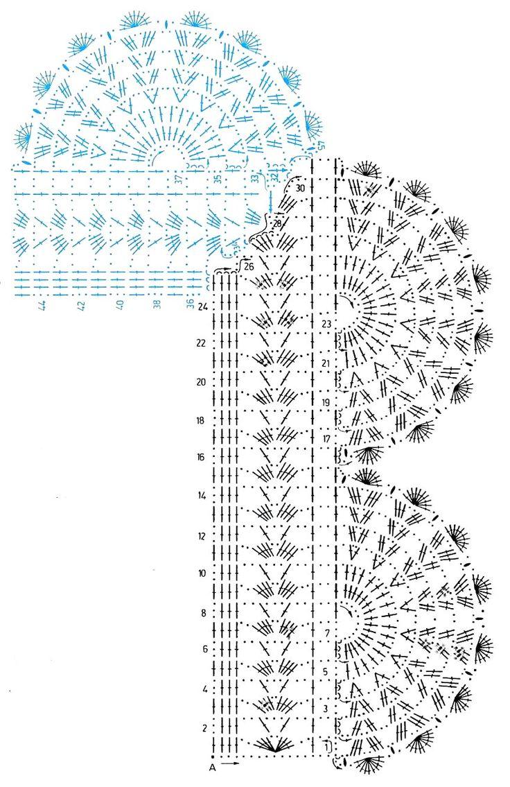 Materiales gráficos Gaby: Servilletas con guardas tejidas