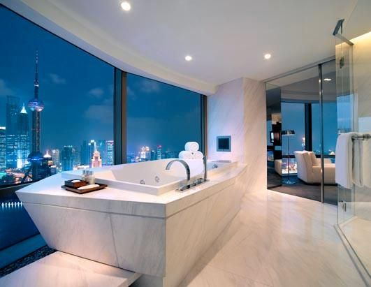 Inspiration Web Design This incredible bathroom from the Hyatt on the Bund in Shanghai has to have one of