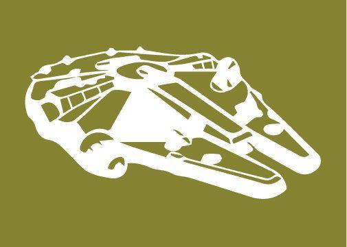 Star Wars Millenium Falcon Silhouette for por DesignCreatives