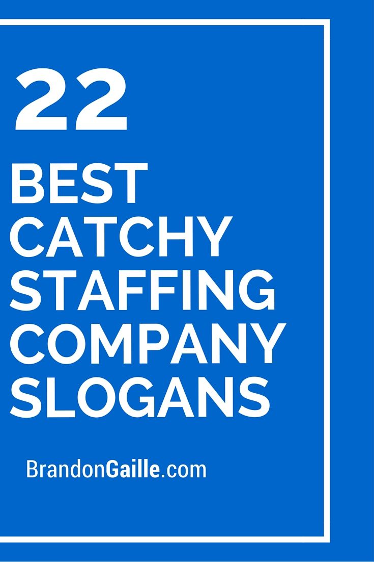 22 best catchy staffing company slogans