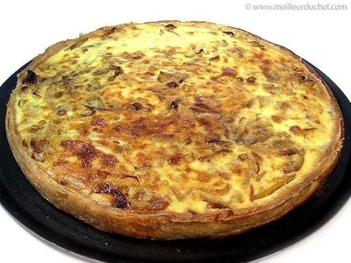 Tarte à l'oignon rapide - Recette de cuisine Marmiton : une recette