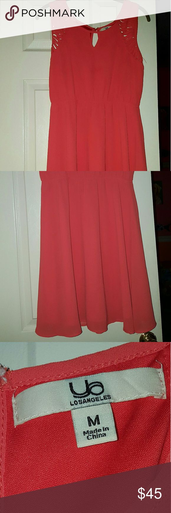 Coral sundress M Coral color Medium midi sundress, NEW! Great fit, looser so you can feel comfortable the entire day! Perfect with a pair of wedges or even flipflops! Dresses