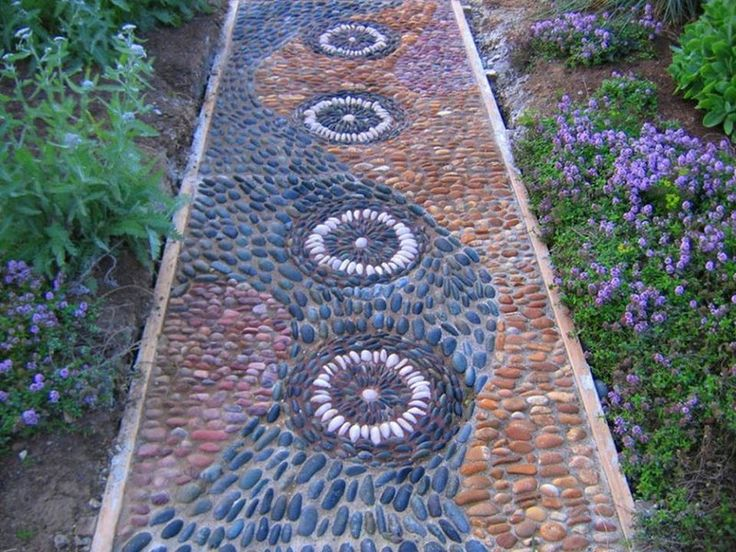 Here's another garden path made from pebbles embedded in cement. on The Owner-Builder Network  http://theownerbuildernetwork.co/wp-content/blogs.dir/1/files/garden-paths/aaaaaa-6_0.jpg