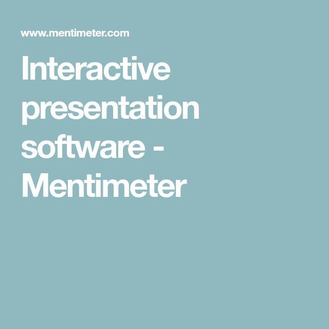 Interactive presentation software - Mentimeter