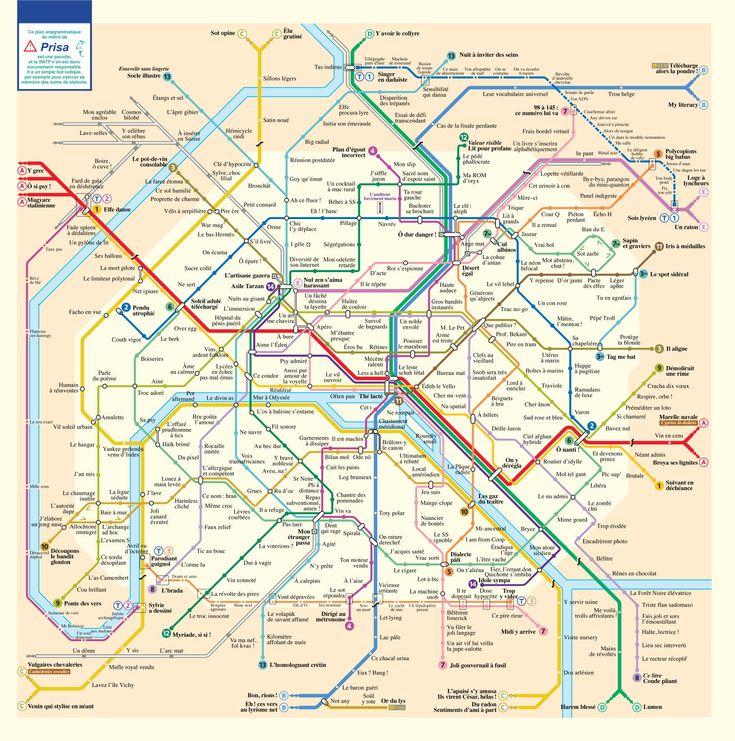 Il y a quelques années Gilles Esposito-Farèse s'était amusé à recréer le plan du métro, du RER et du tramway de Paris en remplaçant les noms des stations par leurs anagrammes. Il explique que lors de la création du plan la difficulté ne venait pas de trouver les anagrammes, mais de garder le meilleur parmi …