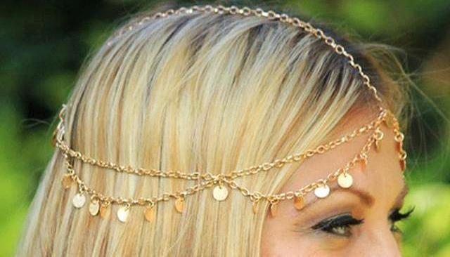 Fashion Gold Headband Hair Jewelry