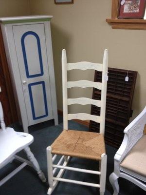 Beautiful Painted And Distressed Rocking Chair. Cedar PointYard SalesCamp LejeuneRocking  ...