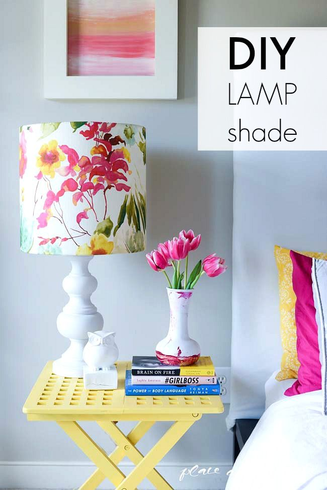DIY lampshade with I LIKE THAT LAMP DIY Lampshade Kit. Gorgeous handmade floral lampshade in a modern drum shape style. Buy the kit at ilikethatlamp.com