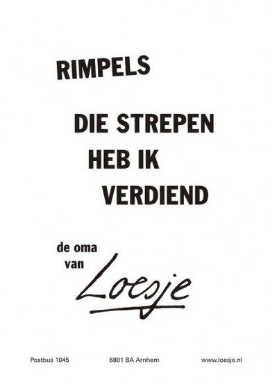 Quote: Loesje over rimpels