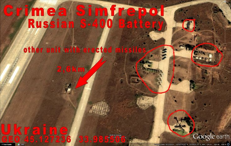 Crimea Simfrepol Airport, Russian S-400 unit. This is still Ukraine.