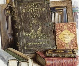 Gorgeous old books.