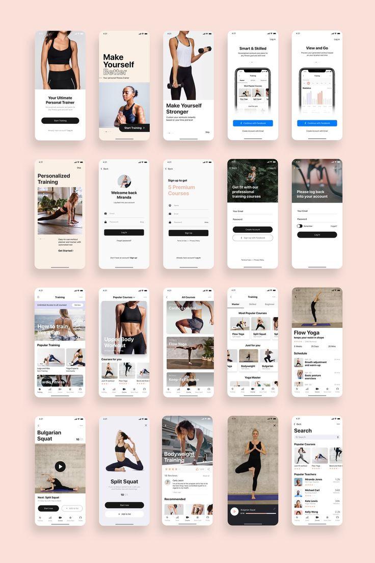 Super Woman Fitness App UI Kit
