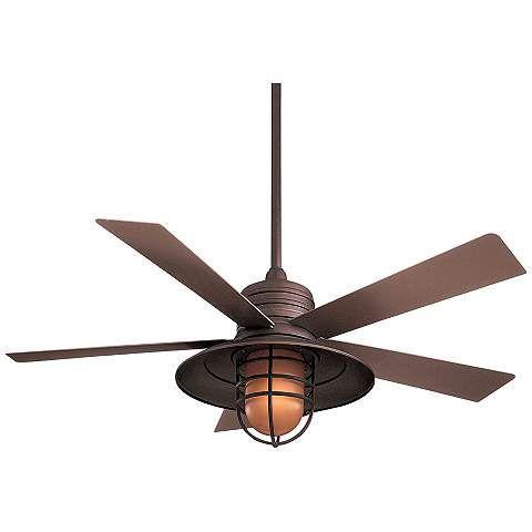 """54"""" Rainman Oil Rubbed Bronze Ceiling Fan - #77752   LampsPlus.com"""