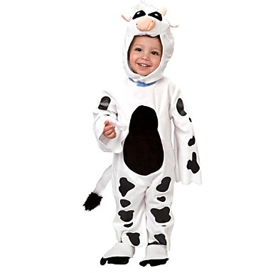 children performance little cows halloween costume for kids animal costume cosplay party funny children accessories 02713 - Baby Cow Costume Halloween