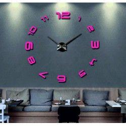 Zrkadlové nástenne hodiny pokory. Nálepka na stenu.
