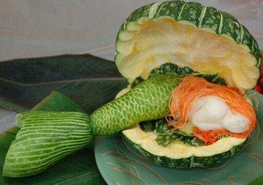 Arte con verduras.