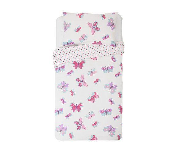 Buy HOME Butterfly Bedding Set - Toddler at Argos.co.uk, visit Argos.co.uk to shop online for Children's bedding sets, Bedding, Home and garden