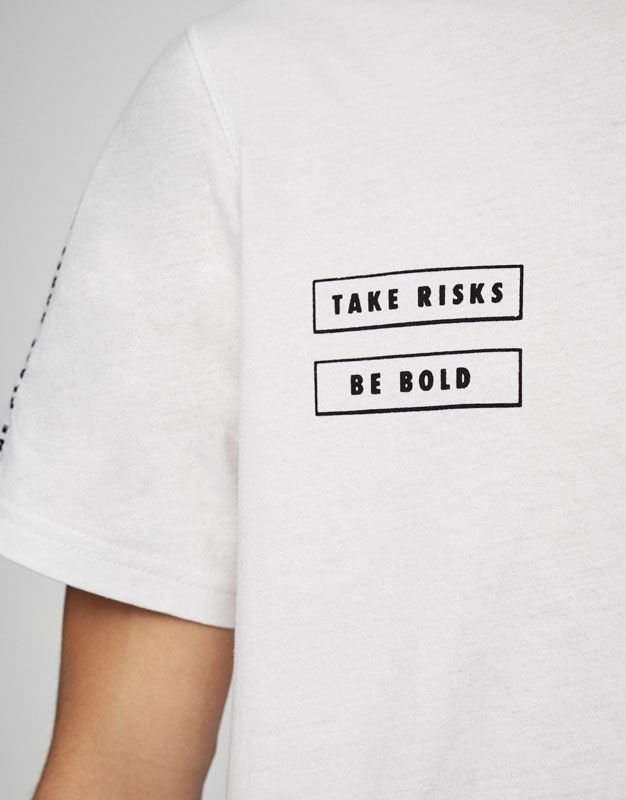 T-shirt with pocket and text - T-shirts - Clothing - Man - PULL&BEAR United Kingdom