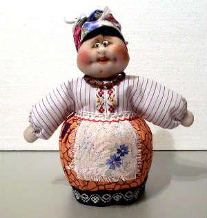 Трындычиха - кукла из капроновых колготок и пластика. Мастер-класс