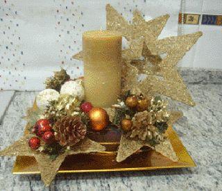 Centros de Mesa de Navidad con Piñas