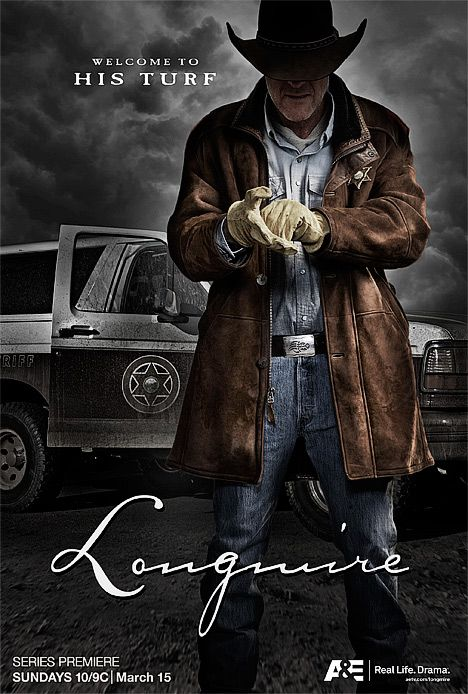 Longmire, GREAT modern day cowboys & Indians show on A&E. 3rd season started last night 6/2, it was fabulous, going to be another great season I think!!
