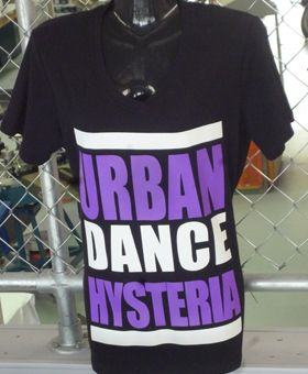 Another dance crew tee for Urban Dance Hysteria!-we love making t shirts for you crew and events! WWW.ColourWorksnz.Com