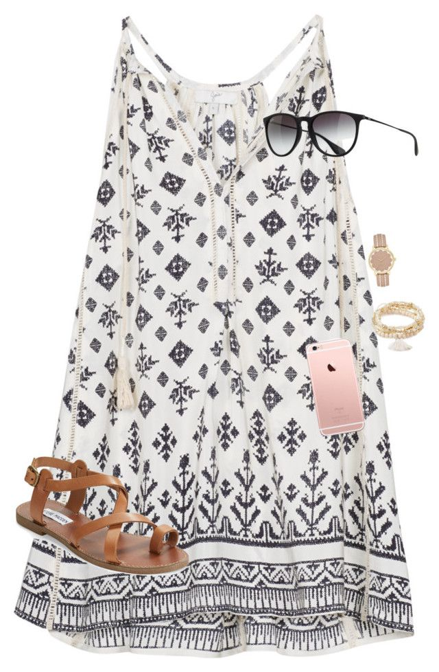 """Only 142 days til SUMMER!!!!"" by graciegerhart7 ❤ liked on Polyvore featuring Ray-Ban, Forever 21, Kate Spade, Steve Madden, women's clothing, women, female, woman, misses and juniors"