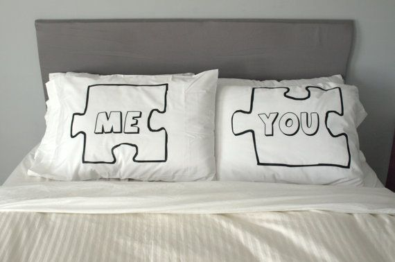 Puzzle Piece Pillow Case For Weddings Couples Love by uVinylGift Ideas, Wedding Shower Gift, Puzzles Piece, Love Quotes, Bedrooms Decor Ideas, Pillows, Bedrooms Ideas, Wonder Life, Wedding Couples
