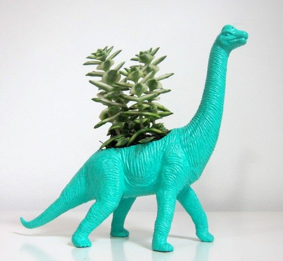 Next time I'm at goodwill I will look for some of those hollow plastic dino toys.