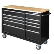 Look what I just bought on eBay: NEW Husky 52 in. 10-Drawer Mobile Workbench with Solid Wood Top - Black