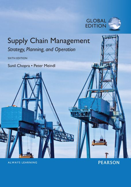 SUPPLY CHAIN MANAGEMENT: STRATEGY, PLANNING AND OPERATION de Sunil Chopra et Peter Meindl. Contents: PART I: BUILDING A STRATEGIC FRAMEWORK TO ANALYZE SUPPLY CHAINS. PART II: DESIGNING THE SUPPLY CHAIN NETWORK. PART III: PLANNING AND COORDINATING DEMAND AND SUPPLY IN A SUPPLY CHAIN. PART IV: PLANNING AND MANAGING INVENTORIES IN A SUPPLY CHAIN. PART V: DESIGNING AND PLANNING TRANSPORTATION NETWORKS. PART VI: MANAGING CROSS-FUNCTIONAL DRIVERS IN A SUPPLY CHAIN... Cote : 4-5 CHO