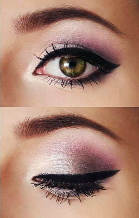 Pink and Silver Eye Shadow