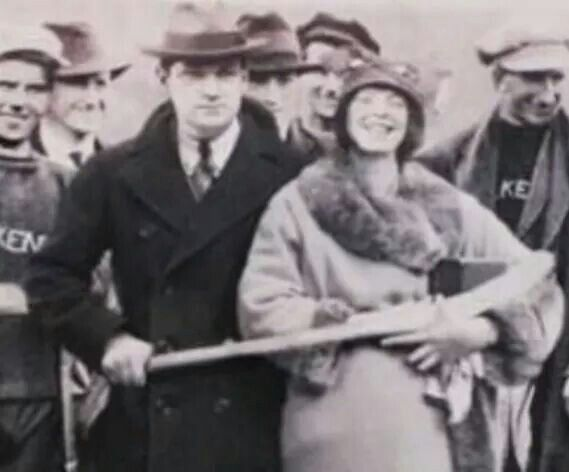 Michael Collins with Catherine Brigid (Kitty) Kiernan