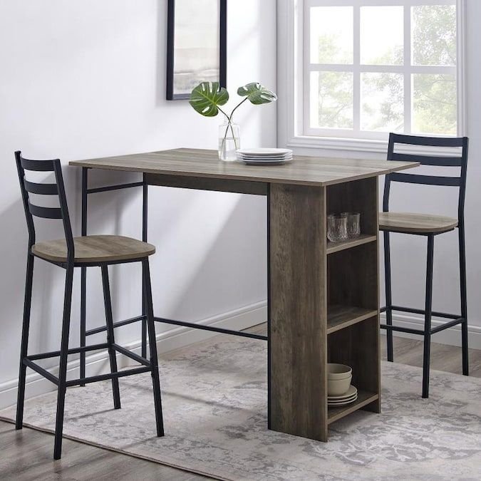 Walker Edison Gray Steel Base With Mdf Wood Top Kitchen Island 30 In X 48 In X 36 In Lowes Com In 2020 Kitchen Tops Mdf Wood Walker Edison