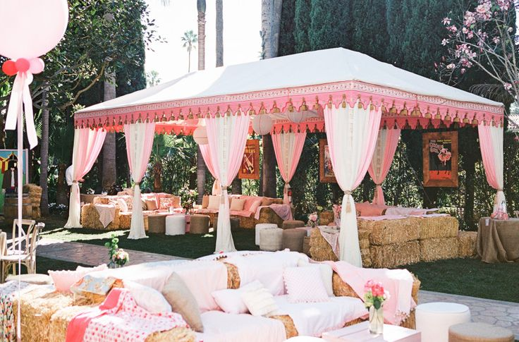 Pink Tent | Whimsical Carnival Baby Shower | Private Residence - Beverly Hills