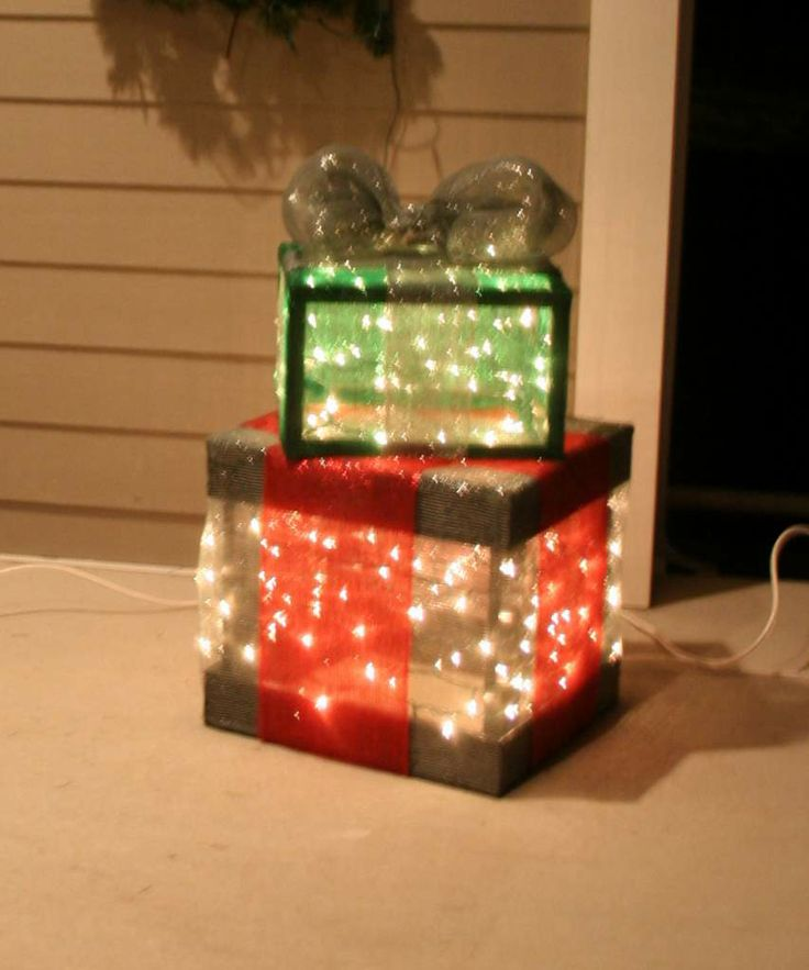 outdoor lighted holiday gift boxes christmas lawn decorationsbox - Lighted Christmas Lawn Decorations