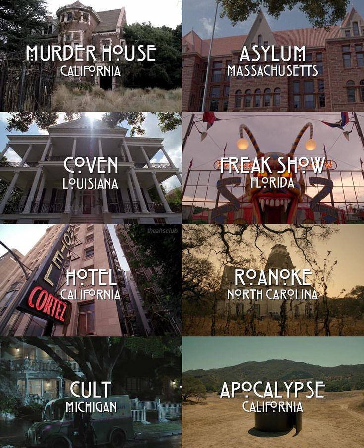 American Horror Story locations Which one is your favorite? #americanhorrorstory #ahs