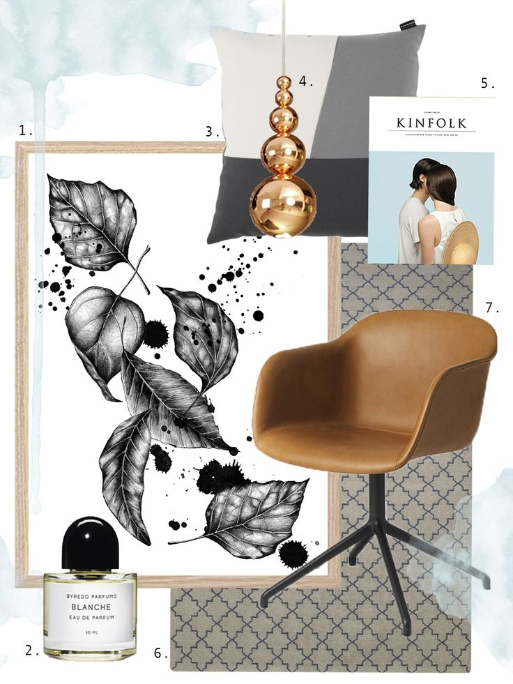 Inspo collage of my print! Take a look at my instagram: acupofmestudio See you there! Kinfolk, byredo, hay