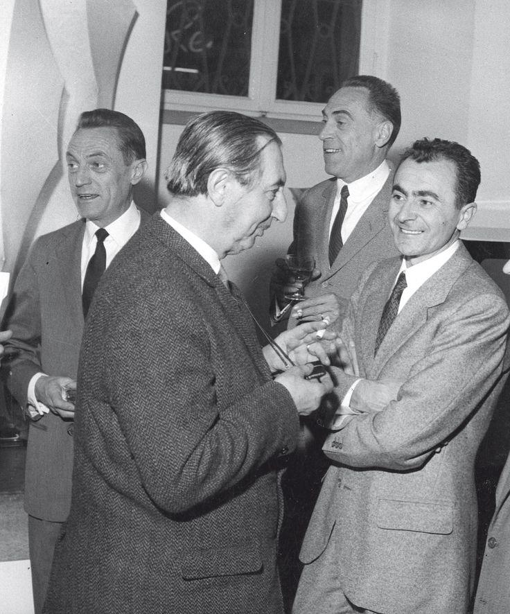 Pier Giacomo Castiglioni, Carlo Scarpa, Achille Castiglioni e Dino Gavina_1960 ca