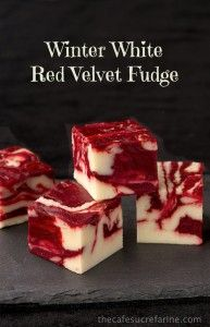 Winter White Red Velvet Fudge