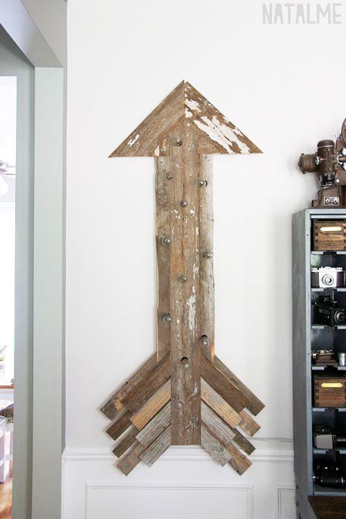 reclaimed wood arrow - DIY