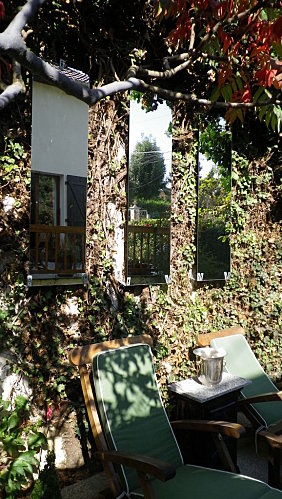 miroirs de jardin gardening pinterest gardens. Black Bedroom Furniture Sets. Home Design Ideas