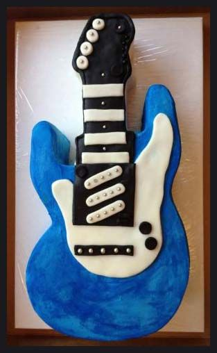 147 best music guitar cake and cookies images on Pinterest