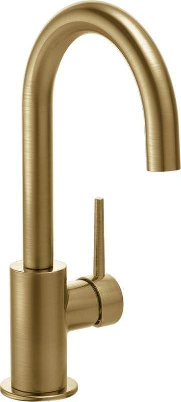 Delta 1959LF-CZ Champagne Bronze Contemporary Single Handle Bar Faucet with Swivel Spout - FaucetDirect.com