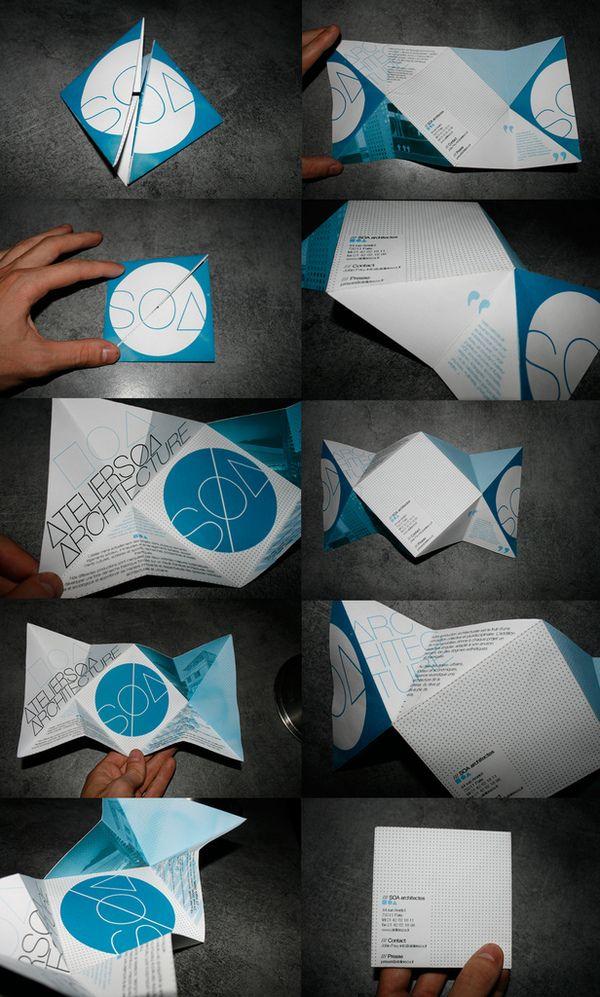 """""""Atelier Soa"""" Flyer by Martin Legrand, via Behance"""